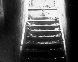 The setting in the novel are these dark stairs. Dave was locked in the basement in the dark for days without without food.  He felt nothing but hurt and alone all the time.